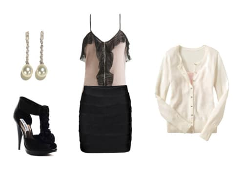 Dressy Lingerie-Inspired Outfit