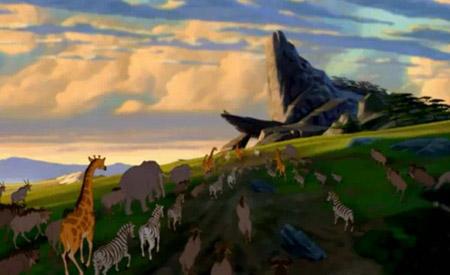 Pride Rock in Disney's The Lion King