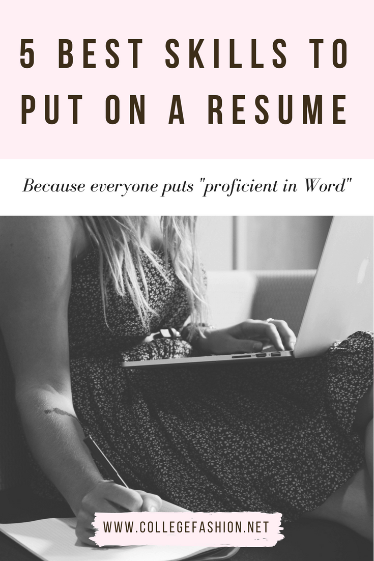 List of good skills to put on a resume - these skills will help your resume stand out