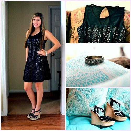 Little black dress back to school look