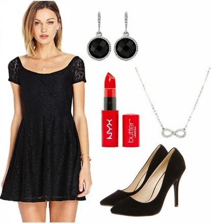 Little black dress graduation outfit