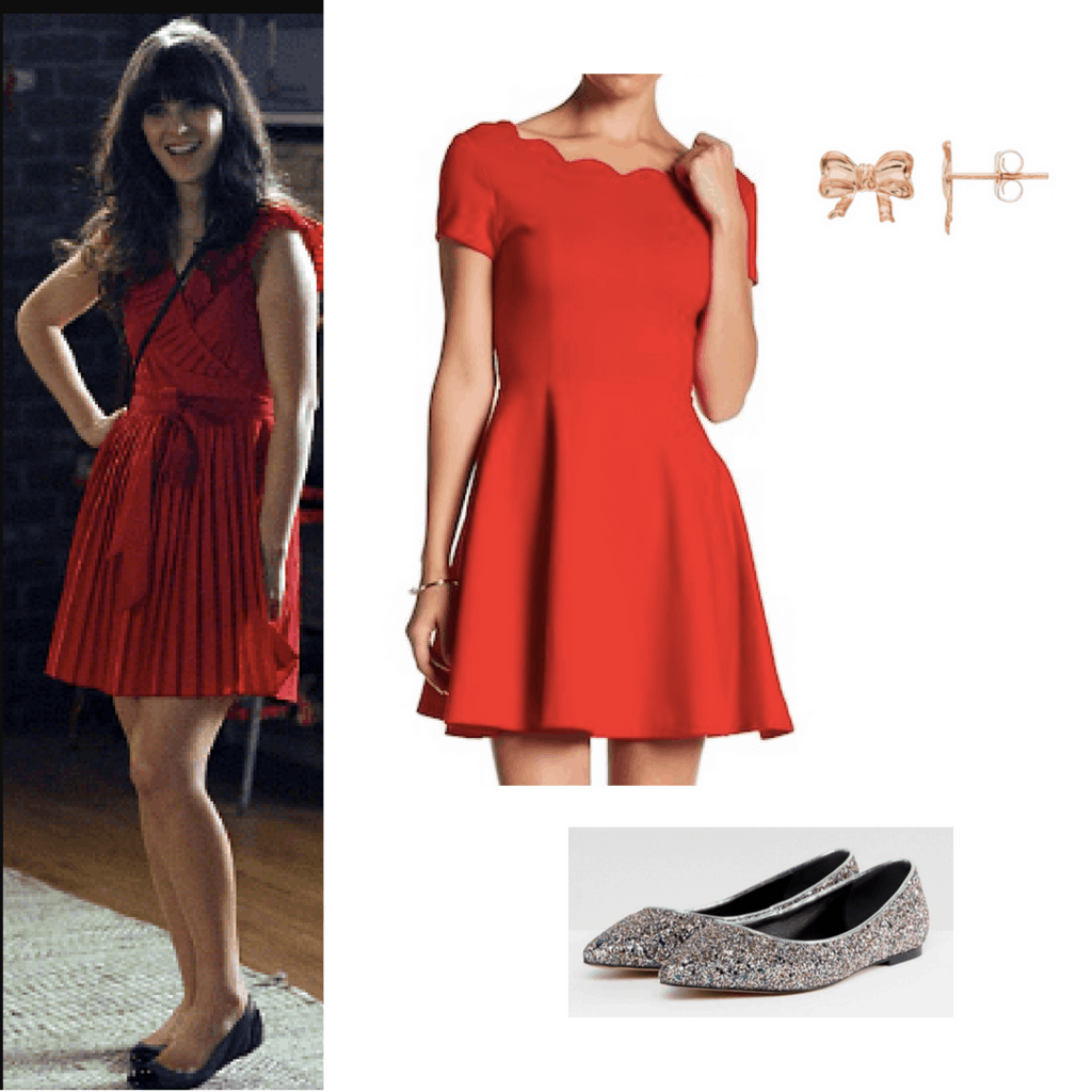 new girl little red dress
