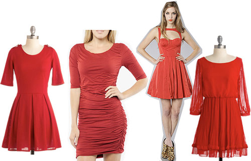 Little red dresses for holiday parties