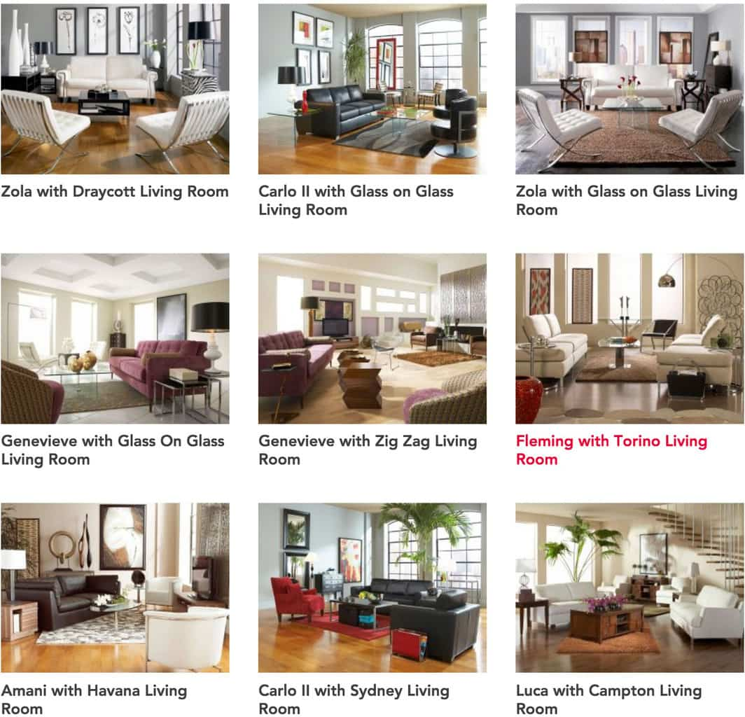 Living room furniture options from CORT