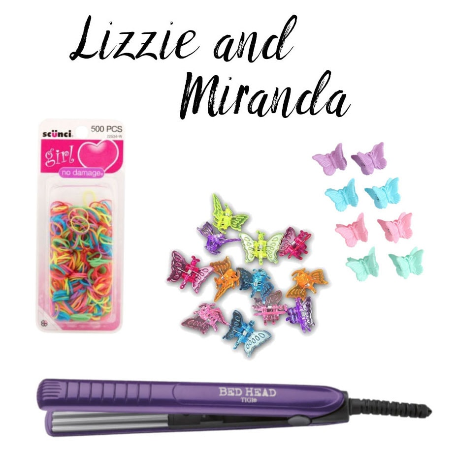 How to do a Lizzie Mcguire and Miranda costume: Butterfly clips for 2000s hairstyles, plus crimping iron, rainbow elastics