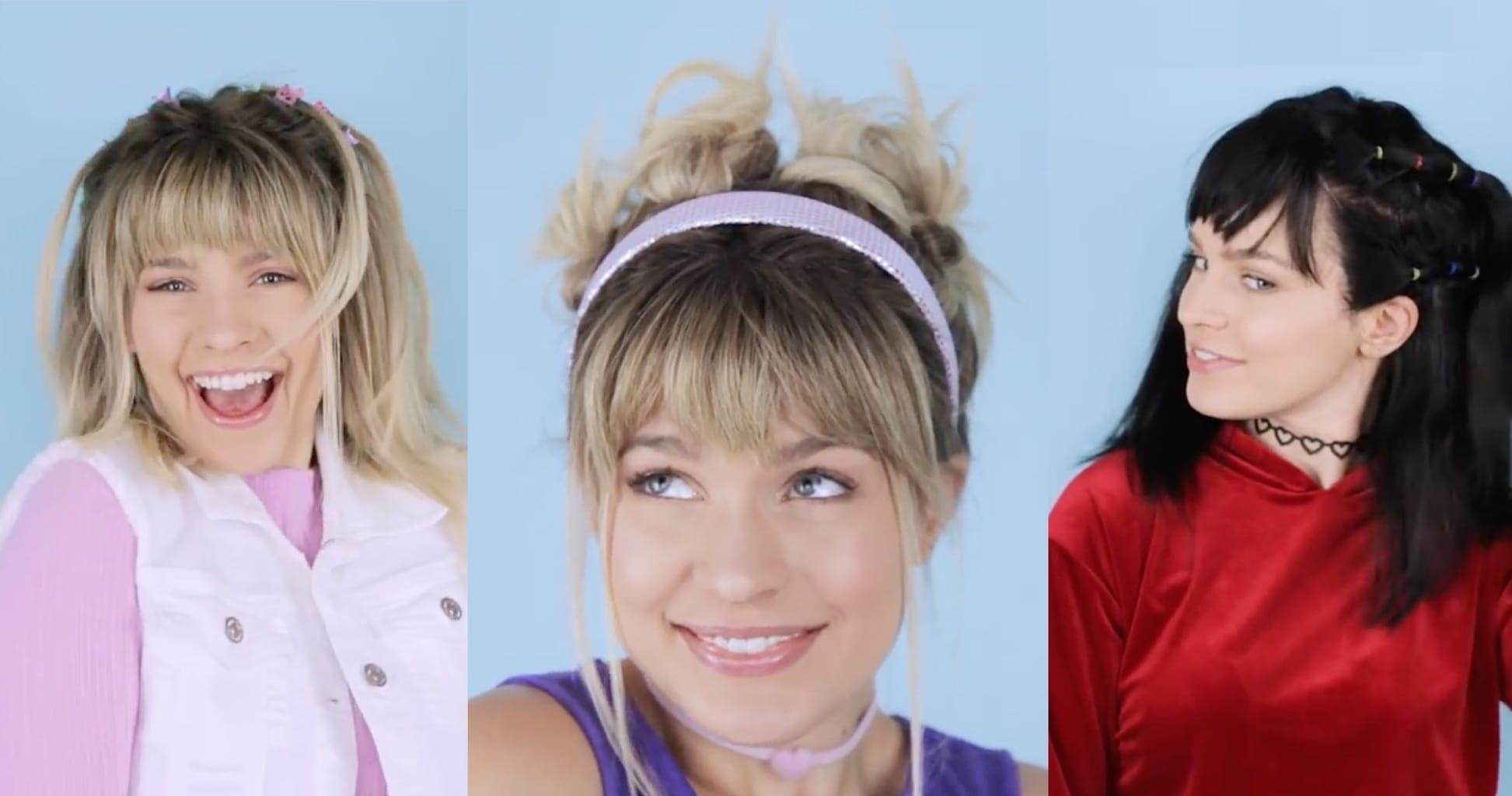 Lizzie McGuire and Miranda bff costume - hairstyles for Halloween