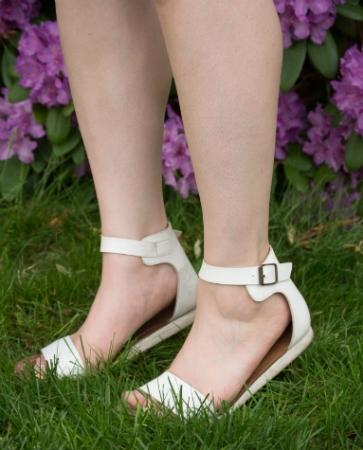 cute white sandals