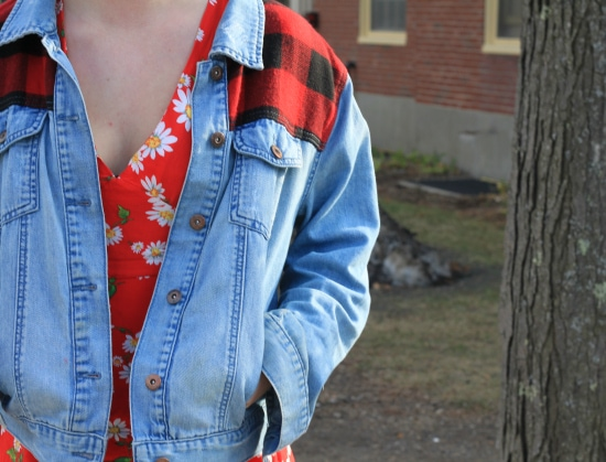 denim and flannel jacket