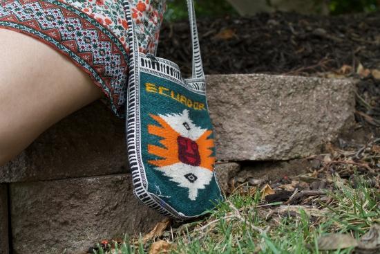 handmade bag from Ecuador