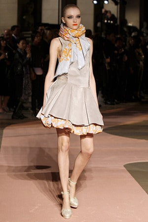 Loewe spring 2010 rtw leather dress