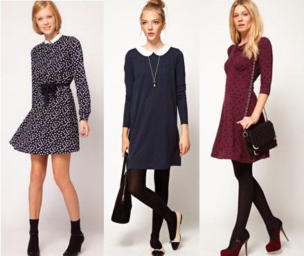 Long sleeve collared dresses