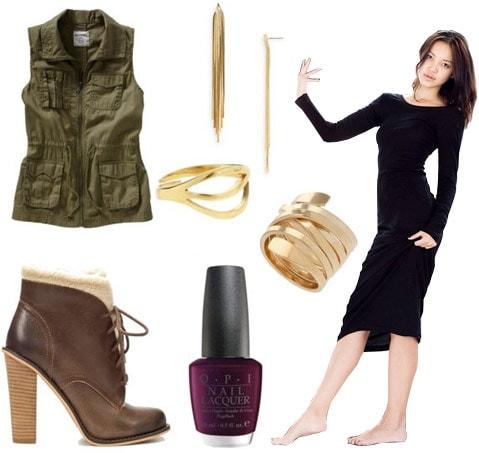 How to wear a long sleeve maxi dress