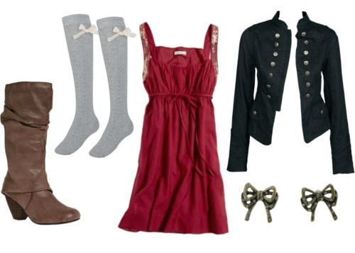 How to wear over-the-knee socks - outfit 1