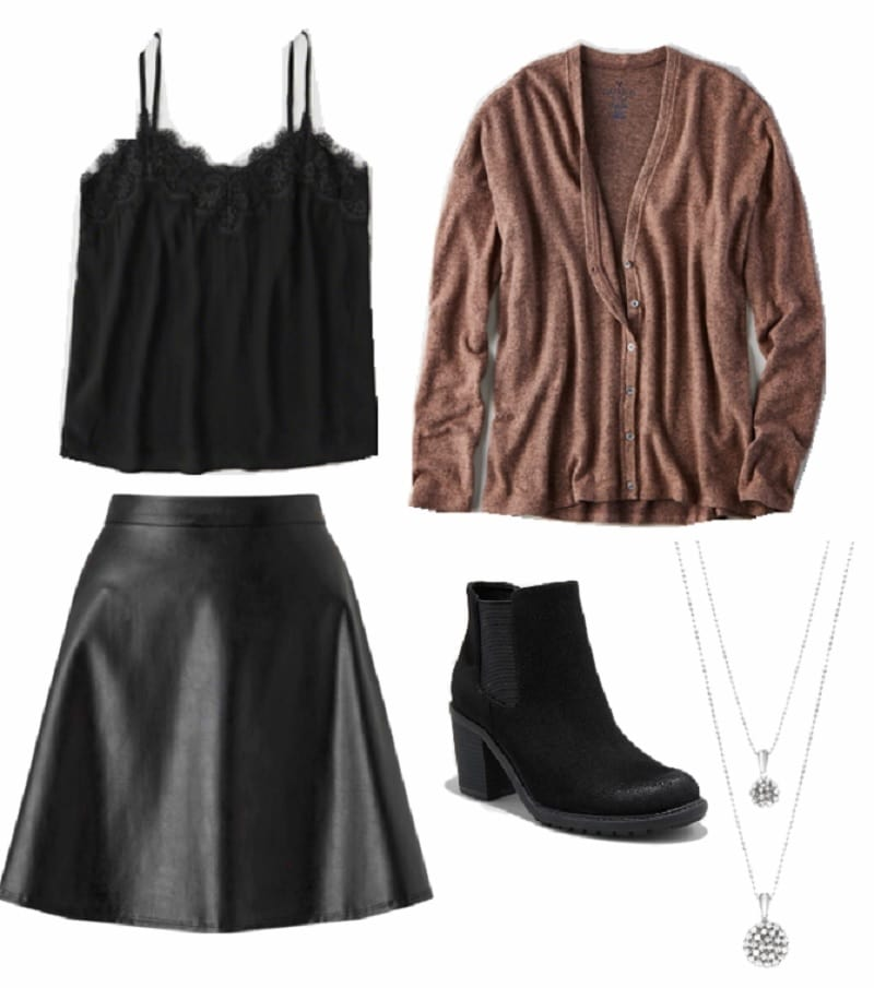 winter capsule wardrobe night out outfit