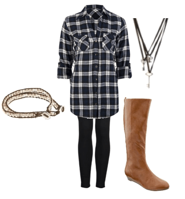 Outfit idea for how to wear plaid
