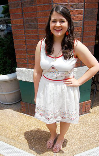 College fashionista at the University of Mississippi