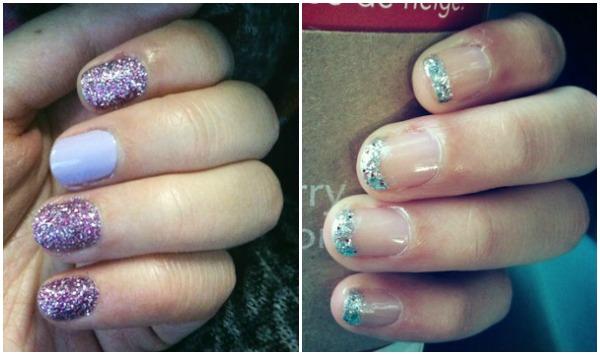 Loose glitter nail art