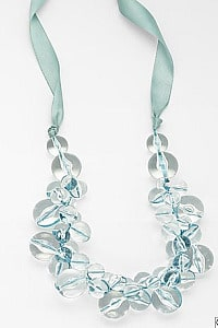 Lord and taylor clear blue necklace