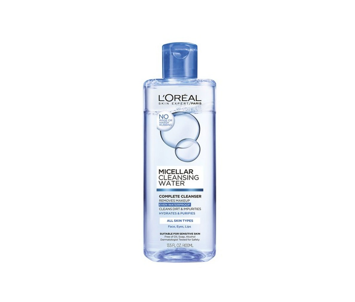Best cleansing water for that squeaky clean feeling: L'Oreal Micellar Water