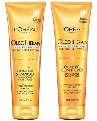 L'Oreal oleo therapy oil infused conditioner and shampoo