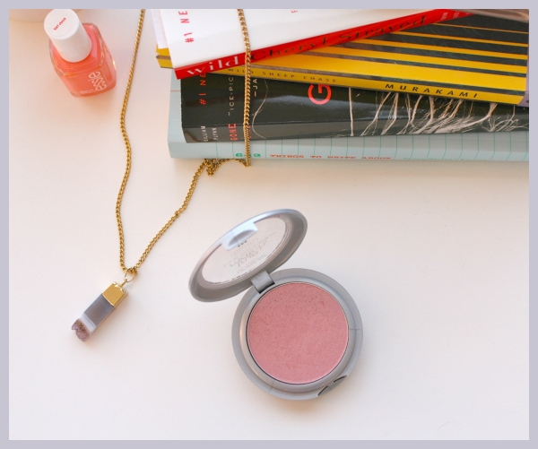 Loreal-True-Match-Rose-Blush-by-Crystal-Necklace-Books