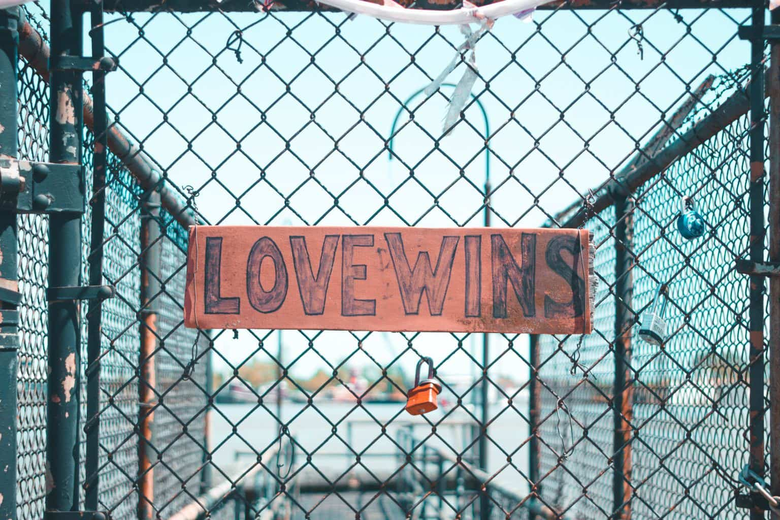 Love wins on a fence