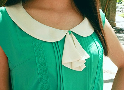 Lsu street style trend peter pan collar and bow blouse