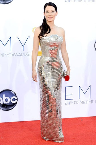Lucy Liu in Atelier Versace at the 2012 Emmy Awards