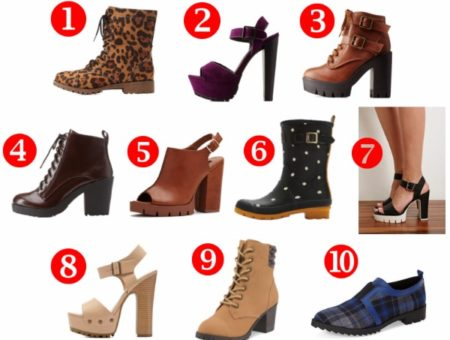 10 cute lug sole shoes