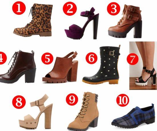 10 cute lug sole shoes