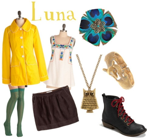 Outfit inspired by Luna Lovegood's style in Harry Potter and the Deathly Hallows Part 1