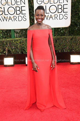 Lupita Nyongo in Ralph Lauren at the 2014 Golden Globes