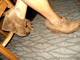 College trends at the University of Texas at Arlington - Suede ankle booties