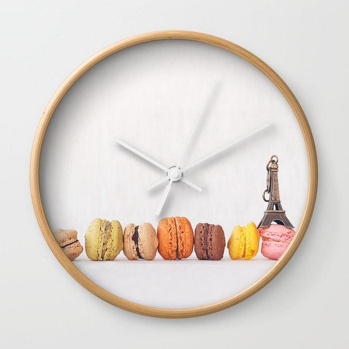 Macaron-paris-wall-clock