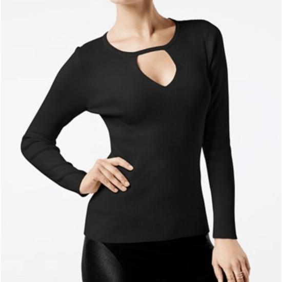 Macy's black cutout sweater.