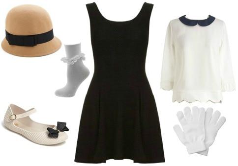 Madeline halloween costume - black dress Halloween costume ideas