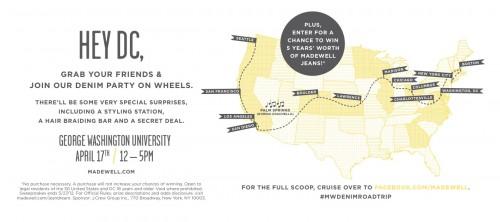 Madewell Denim Tour at George Washington University