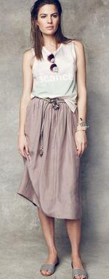 Madewell lookbook midi skirt