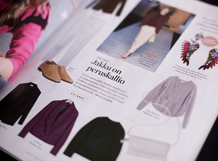 Magazine spread outfits