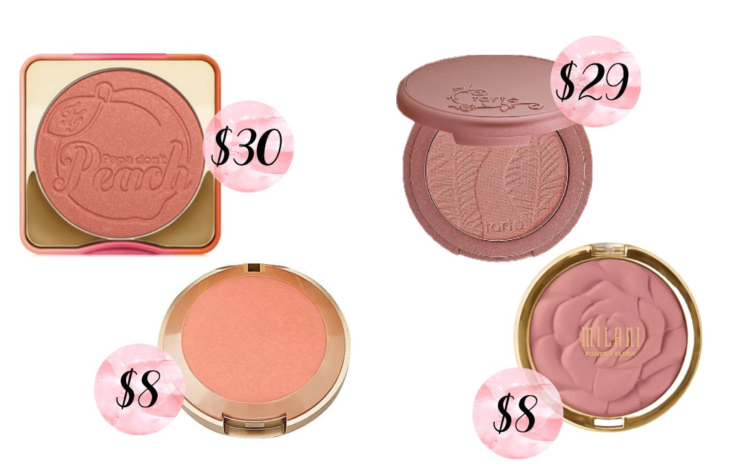 Too Faced Papa Don't Peach Blush dupe, Tarte Amazonian blush dupe