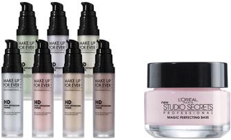 Makeup primers: Make Up For Ever HD Primer and L'Oreal Studio Secrets Primer