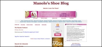 Manolo's Shoe Blog