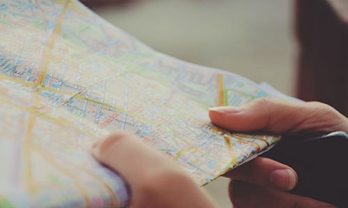 Map in hands