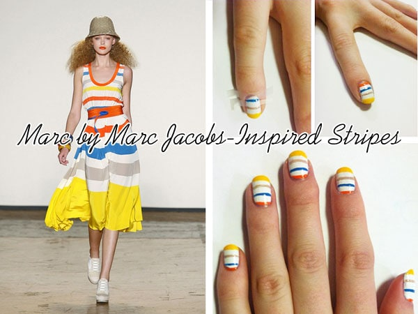 DIY nail art tutorial: Marc by Marc Jacobs-Inspired stripes