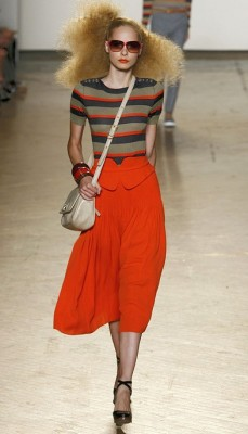 Marc by Marc Jacobs Orange Maxi skirt with striped top