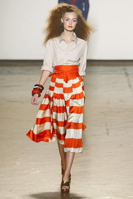 Marc by Marc Jacobs Orange Stripe Skirt