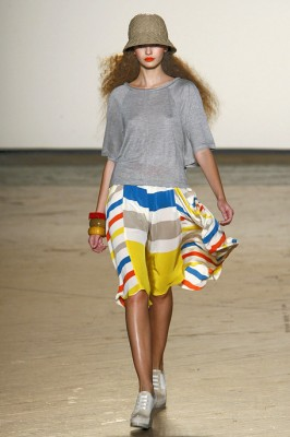 Marc by Marc Jacobs Stripe Skirt and Grey Top
