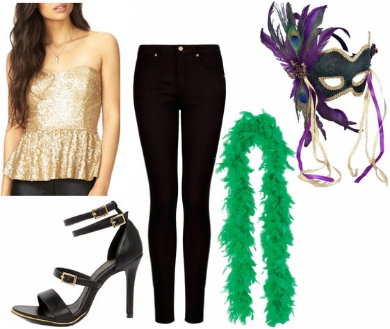 Mardi gras party outfit