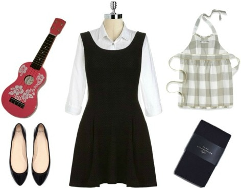 Maria von trapp costume - black dress Halloween costume ideas