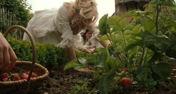 Marie antionette picking strawberries